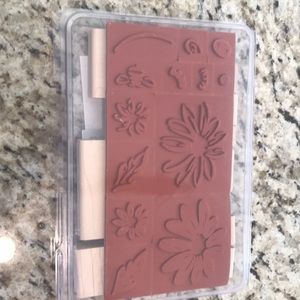 Never used Daisy Stamping Up stamps and idea book